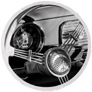 1956 Volkswagen Vw Bug Steering Wheel Emblem Round Beach Towel