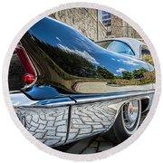 1957 Cadillac Eldorado Round Beach Towel