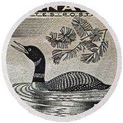1957 Canada Duck Stamp Round Beach Towel