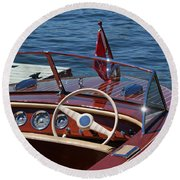 1957 Chris Craft Holiday Round Beach Towel