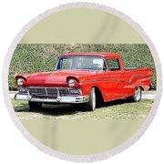 1957 Ford Ranchero Round Beach Towel