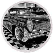1958 Lincoln Continental Mk IIi Round Beach Towel by Michael Gordon