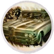 1959 Edsel Round Beach Towel