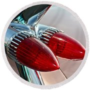 1959 Eldorado Taillights Round Beach Towel