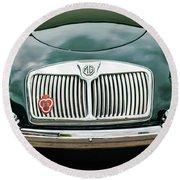 1959 Mg A 1600 Roadster Front End -0055c Round Beach Towel