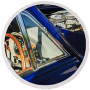 1960 Ac Aceca-bristol Steering Wheel - Engine Round Beach Towel