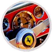 1960 Ferrari 250 Gt Cabriolet Pininfarina Series II Steering Wheel Emblem -1319c Round Beach Towel