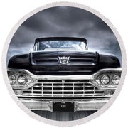 1960 Ford F100 Pick Up Head On Round Beach Towel