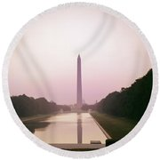 1960s Washington Monument Round Beach Towel