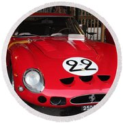 1962 Ferrari Gto Round Beach Towel
