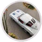 1963 Chevrolet Corvette Split Window -440c Round Beach Towel