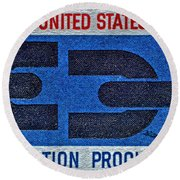 1963 Emancipation Proclamation Stamp Round Beach Towel