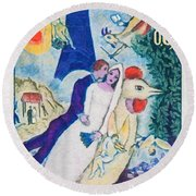1963 M. Chagall Round Beach Towel by Lanjee Chee