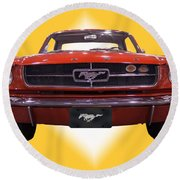 1964 Ford Mustang Round Beach Towel