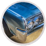 1964 Lincoln Continental Convertible  Round Beach Towel