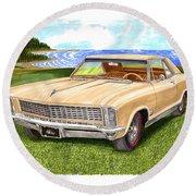1965 Buick Riviera G S Round Beach Towel