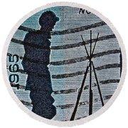 1965 Civil War Centennial Stamp Round Beach Towel