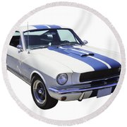 1965 Gt350 Mustang Muscle Car Round Beach Towel by Keith Webber Jr
