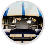 1965 Shelby Cobra Grille Round Beach Towel