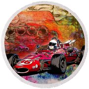 1966 9 Eagle Indy Round Beach Towel
