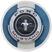 1966 Shelby Gt 350 Emblem Gas Cap Round Beach Towel