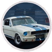 1966 Shelby Gt350 Round Beach Towel
