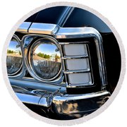 1967 Chevy Impala Front Detail Round Beach Towel