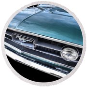 1967 Mustang Grille Round Beach Towel