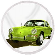 1967 Porsche 911  Round Beach Towel