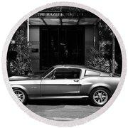 1967 Shelby Mustang B Round Beach Towel