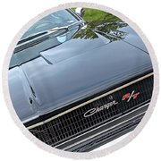 1968 Dodge Charger Round Beach Towel