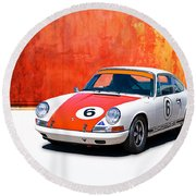 1968 Porsche 911 Round Beach Towel
