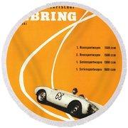 1968 Porsche Sebring Florida Poster Round Beach Towel