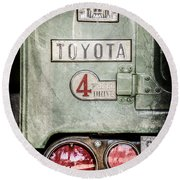 1969 Toyota Fj-40 Land Cruiser Taillight Emblem -0417ac Round Beach Towel