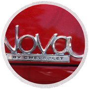 1970 Chevy Nova Logo Round Beach Towel