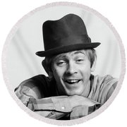 1970s Character Man Wearing Hat Goofy Round Beach Towel