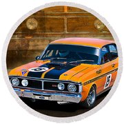 1971 Ford Falcon Xy Gt Round Beach Towel