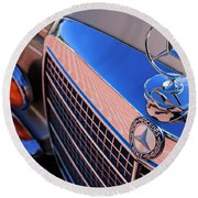 Round Beach Towel featuring the photograph 1971 Mercedes-benz 280se 3.5 Cabriolet  by Jill Reger