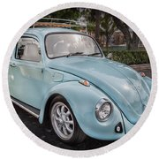1974 Volkswagen Beetle Vw Bug Round Beach Towel