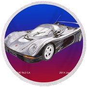 1994 Porsche 962 C A Round Beach Towel