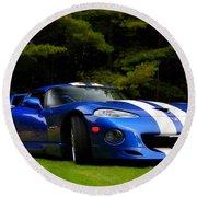 1997 Viper Hennessey Venom 650r Round Beach Towel