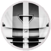 1998 Dodge Viper Gts-r Grille Emblem -0329bw Round Beach Towel