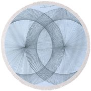 Magnetism Round Beach Towel by Jason Padgett