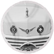 1937 Cord 812 Sc Convertible Phaeton Sedan Grille Emblems Round Beach Towel