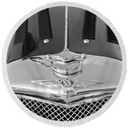 1937 Ss100 3.5-liter Jaguar Roadster Grille Hood Emblem Round Beach Towel