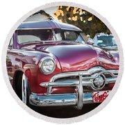1949 Ford 2 Door Custom  Round Beach Towel