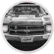 1970 Chevy Chevelle 454 Ss Bw   Round Beach Towel