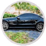 2006 Mercedes Benz Sl55 V8 Kompressor Coupe Painted  Round Beach Towel