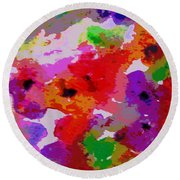 A Little Watercolor Round Beach Towel by Jamie Frier