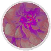Round Beach Towel featuring the photograph A Touch Of Purple - Pop Art by Dora Sofia Caputo Photographic Art and Design